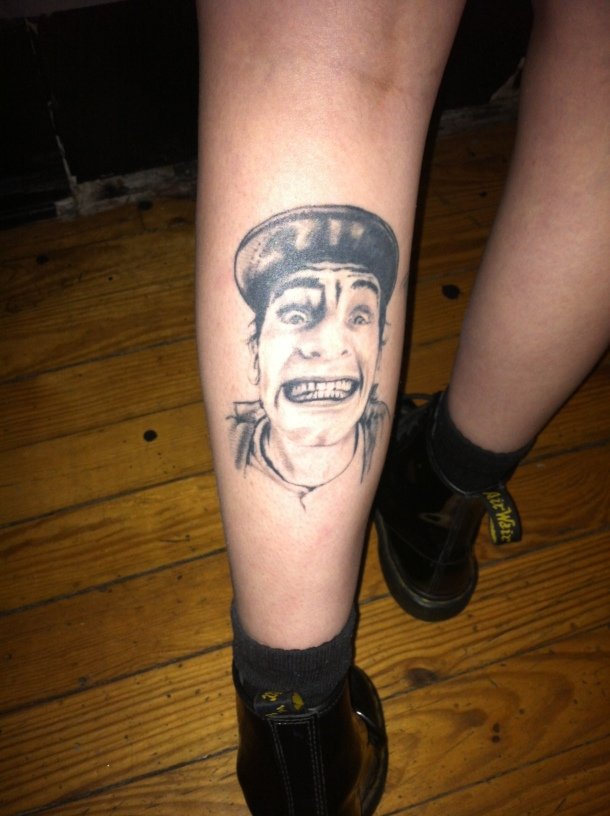 My soon-to-be-friend Morgan's left leg after our show in Columbia. She is 22. I have faith in this newer generation.
