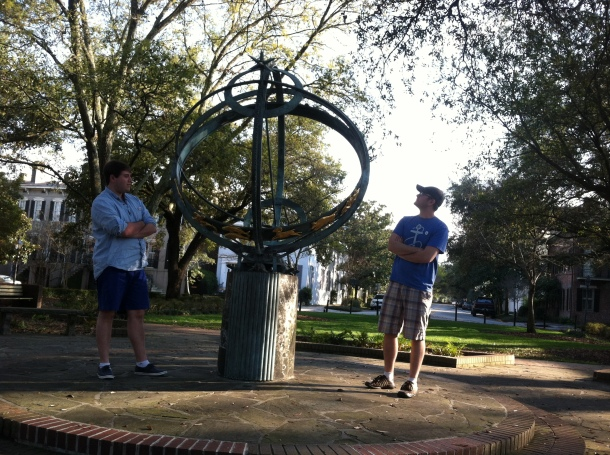 If we spin fast enough, then maybe the broken pieces of our hearts, will come together but ain't no gyroscope can spin throughout a Dismemberment Plan Reference! (SonicSimon contemplates physics in Savannah, 3.20.15).