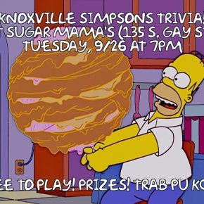TONIGHT: Simpsons Trivia at Sugar Mama's, 7pm