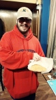Man in oversized red hoodie who bought a loaf of bread!