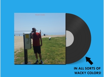 """This is a preview mock-up I made for my Bandcamp page; the real thing won't have """"FRONT PANEL"""" on it and the label will have some special bonus-surprise artwork that you'll find when you unpack it."""